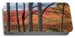 Blueberry Field Through The Wall - Cropped Portable Battery Charger