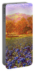 Blueberry Fields Season Of Blueberries Portable Battery Charger