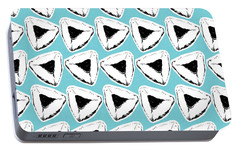 Portable Battery Charger featuring the mixed media Blueberry Hamentashen- Art By Linda Woods by Linda Woods