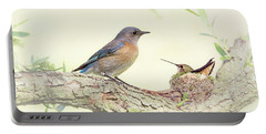 Bluebird And Baby Hummer Portable Battery Charger