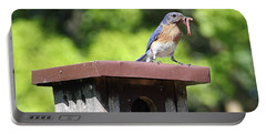 Bluebird Breakfast Feeding Portable Battery Charger