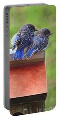 Bluebird Fledglings Portable Battery Charger