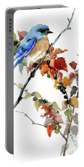 Bluebird In The Fall Portable Battery Charger
