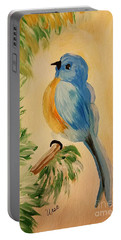 Bluebird Portable Battery Charger by Maria Urso
