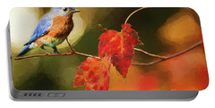 Bluebird Of Autumn Portable Battery Charger by Darren Fisher