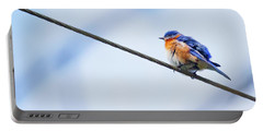 Portable Battery Charger featuring the photograph Bluebird Of Happiness by Linda Unger