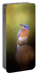 Bluebird On The Nest Pole Portable Battery Charger