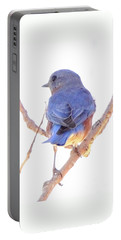 Bluebird On White Portable Battery Charger by Robert Frederick