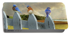 Bluebirds In My Heart Portable Battery Charger