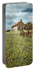 Portable Battery Charger featuring the photograph Bluebonnet Fields by Linda Unger