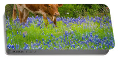Bluebonnet Longhorn Portable Battery Charger
