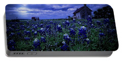 Portable Battery Charger featuring the photograph Bluebonnets In The Blue Hour by Linda Unger