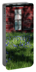 Portable Battery Charger featuring the photograph Bluebonnets In The Shade by David and Carol Kelly