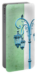 Blue,green And White Portable Battery Charger