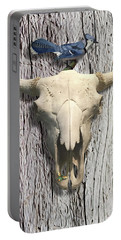 Bluejay And The Buffalo Skull Portable Battery Charger