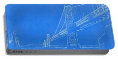 Blueprint Of Suspension Bridge Portable Battery Charger