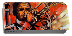 Blues On Bourbon Street Portable Battery Charger by Diane Millsap