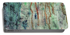 Standing In The Rain - Large Abstract Urban Style Painting Portable Battery Charger