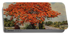 Bluff Poinciana Portable Battery Charger