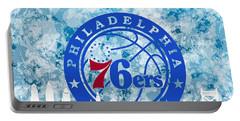 bluish backgroud for Philadelphia basket Portable Battery Charger