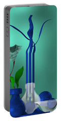 Bluish Still Life Growing Portable Battery Charger