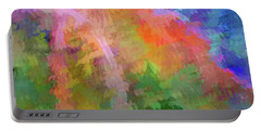 Blurry Painting Portable Battery Charger by Wendy McKennon