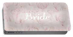 Blush Pink Bride Portable Battery Charger