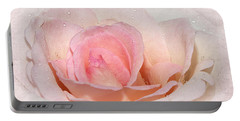 Blush Pink Dewy Rose Portable Battery Charger