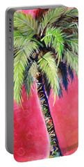 Blushing Pink Palm Portable Battery Charger