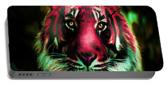 Portable Battery Charger featuring the photograph Blushing Tiger by George Pedro