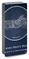 Bmw R32 1923 - For Some There's Therapy, For The Rest Of Us There's Motorcycles Portable Battery Charger
