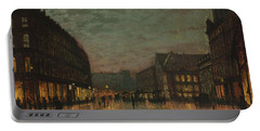 Boar Lane, Leeds, By Lamplight By John Atkinson Grimshaw. Portable Battery Charger