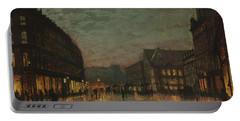 Boar Lane, Leeds, By Lamplight By John Atkinson Grimshaw. Portable Battery Charger