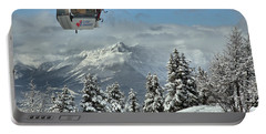 Boarders On The Lake Louise Gondola Portable Battery Charger