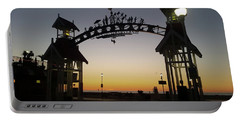 Boardwalk Arch At Dawn Portable Battery Charger by Robert Banach