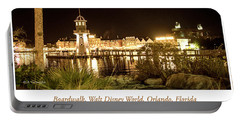 Boardwalk At Night, Walt Disney World Portable Battery Charger