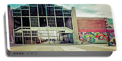 Portable Battery Charger featuring the photograph Boardwalk Casino - Asbury Park by Colleen Kammerer