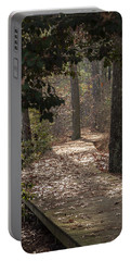 Boardwalk Through The Woods Portable Battery Charger