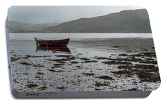 Portable Battery Charger featuring the photograph Boat And Seaweed In Isle Of Skye, Uk by Dubi Roman