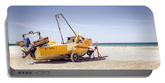 Portable Battery Charger featuring the photograph Boat And The Beach by Silvia Bruno