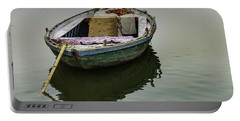 boat at Ganges Portable Battery Charger