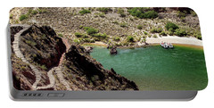 Boat Beach On The Colorado River Portable Battery Charger