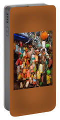 Portable Battery Charger featuring the photograph Crab Pot Buoys by Thom Zehrfeld