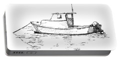 Boat In Casco Bay Portable Battery Charger