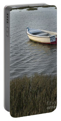 Boat In Ria Formosa - Faro Portable Battery Charger by Angelo DeVal