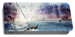 Boat On The Sea Portable Battery Charger