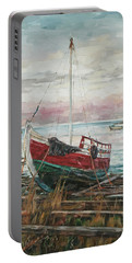 Boat On The Shore Portable Battery Charger
