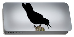 Boat-tailed Grackle Silhuoette Portable Battery Charger