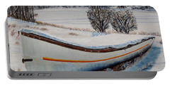 Boat Under Snow Portable Battery Charger