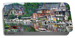 Boathouse Row In Philadelphia Portable Battery Charger